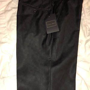 ZARA MAN - BLACK CHECKERED SUIT PANTS
